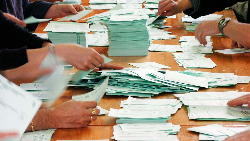 Abstimmung Stimmenzähler Urne Stimmzettel Auszählung Stimmlokal