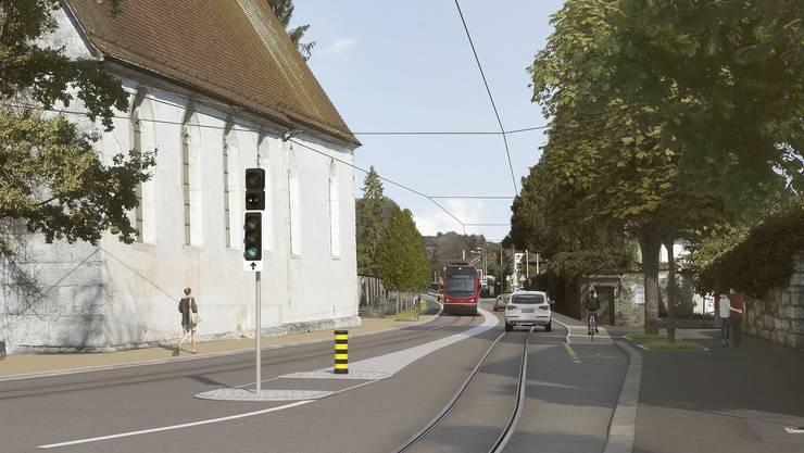 Hier auf der Baselstrasse bei der St. Josephskirche ist für die Bipperlisi-Planer die engste Stelle.