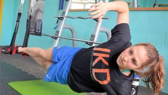 Für Silvana Huber, die Schweizer Meisterin über 50 m Brust, gehört auch regelmässiges Krafttraining zum Programm.
