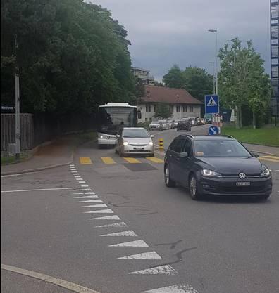 Bilder des Verkehrszusammenbruchs in Aarau am 11. Juni 2019.