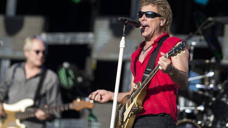 Bon Jovi - hier 2013 im Stade de Suisse in Bern - kommen in die Rock and Roll Hall of Fame.