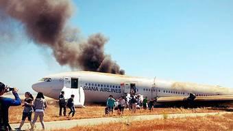 Crash eines Flugzeugs von Asiana in San Francisco