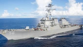 """Das US-Kriegsschiff """"USS John S. McCain"""" ist vor Singapur mit einem Tanker zusammengestossen. (Archivbild)"""