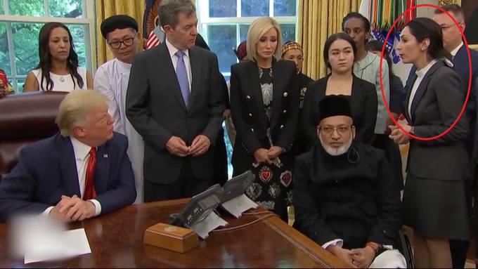 Wettingerin trifft zuerst Vize-Präsident Mike Pence, dann den Präsidenten Trump selber im Oval Office