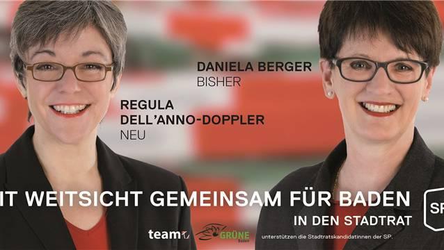 Gemeinsame Sache nun auch für die Bürgerlichen? Regula Dell'Anno (links) und Daniela Berger auf dem Wahlplakat von 2013.