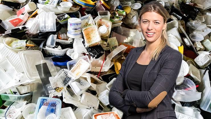 Die nächste Entsorgungsmöglichkeit für Lenzburger Plastikmüll ist das «Recycling-Paradies» von Karin Bertschi in Hunzenschwil.