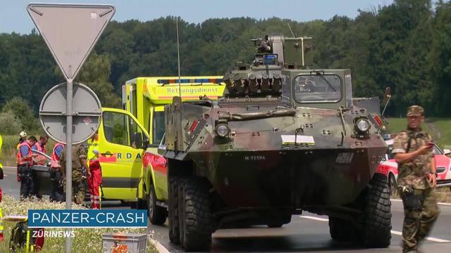 Sechs Verletzte bei Panzercrash