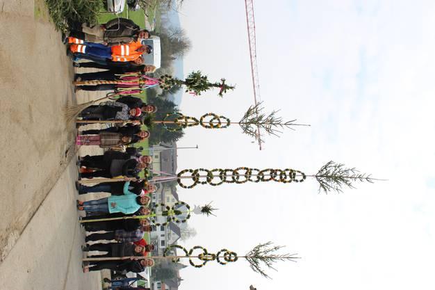 Der grosse Zunftpalmbaum und einige Palmbäume