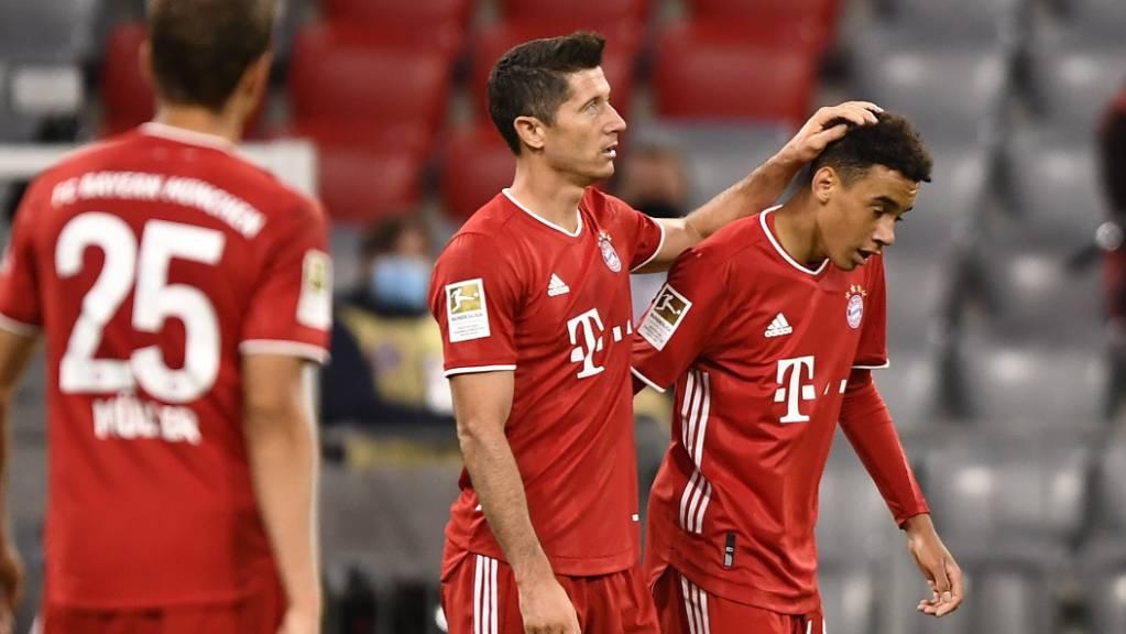 Nach den Toren 5 bis 8 ergaben sich die Münchner nicht mehr in überschwänglichen Jubel.