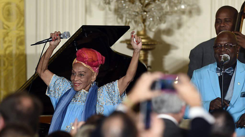 Buena Vista Social Club im Weissen Haus: Die kubanische Formation trat vor US-Präsident Barack Obama auf.