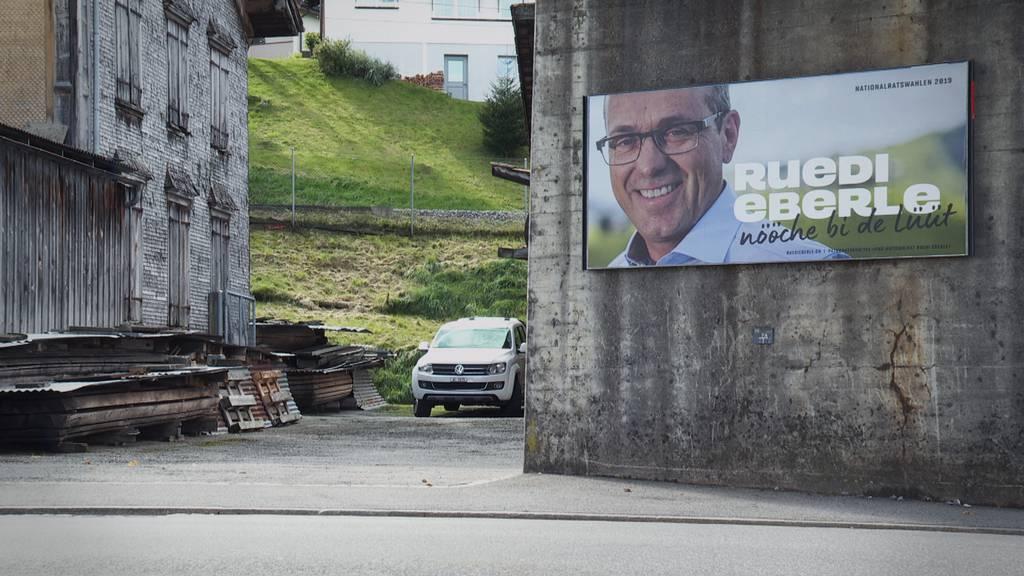 Wahlplakate von Ruedi Eberle verstossen gegen Vereinbarung