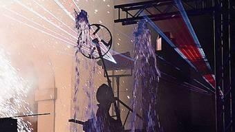Die Lasershow der IBW sorgte für Begeisterung.