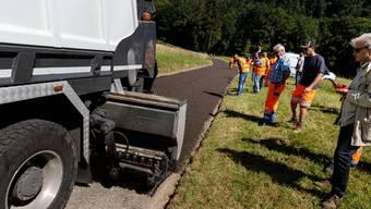 Strassenbau mit Recycling-Material