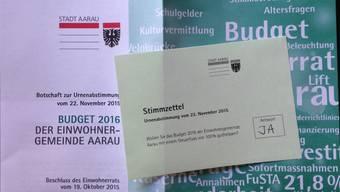 Die Aarauer haben dem Budget zugestimmt.