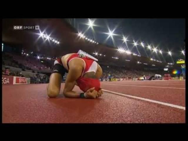 Der Goldlauf über 400m-Hürden von Kariem Hussein an der Leichtathletik-EM 2014 in Zürich