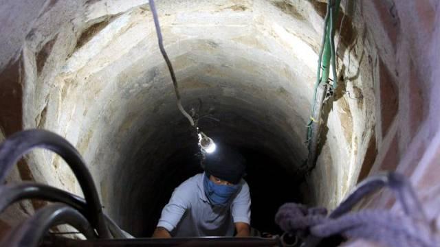 Eingang zu einem palästinensischen Schmuggeltunnel