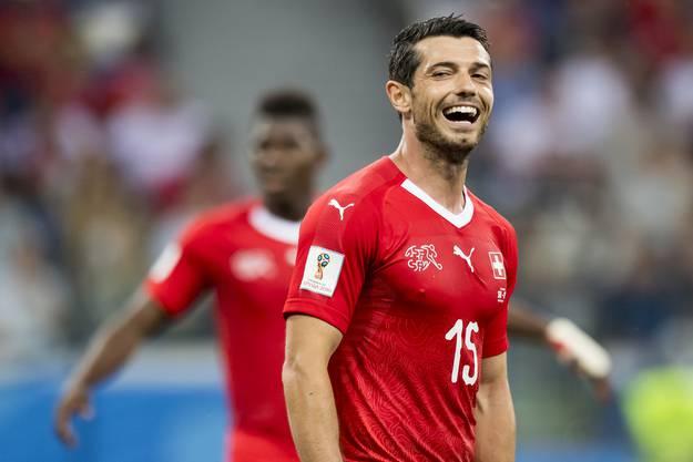 Blerim Dzemail kündigt seinen Rücktritt aus der Nati an. Insgesamt bestritt er 68 Länderspiele für die Schweiz.