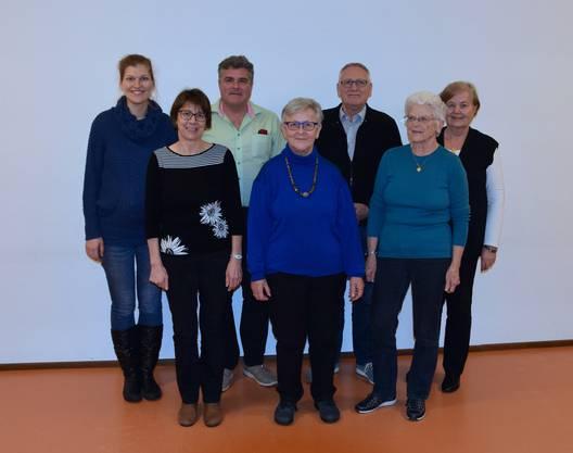 Vorstandsmitglieder v.l.: Maija Gschwind, Marianne Ayele, Andrè Bläsi, Monika Burki, Werner Werren, Melitta Balmer, Edith Ward