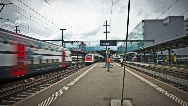 Der Bahnhof Aarau.