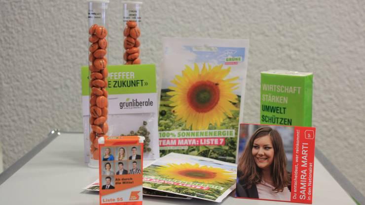 Kondome, M&M, TicTac, Sonnenblumensamen, Papiertaschentücher – vielfältig wirbt die Baselbieter Politik. Samira Marti (SP) will mit ihrem Präsent verhüten, dass sich die Wähler am 18. Oktober für eine andere Partei entscheiden.