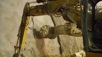 So raspelte sich die Maschine beim Durchstich durch den Fels.