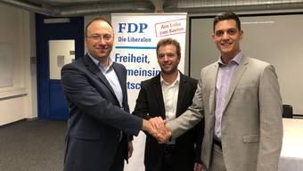 Von links: Michael Käsermann, Florian Broghammer, Riccardo Sturzo.