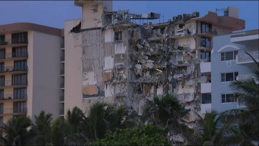 12-stöckiges Wohnhaus in Miami eingestürzt: Mindestens ein Toter, weitere Opfer befürchtet