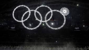 Nur vier der fünf olympischen Ringe sind zu sehen