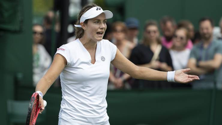 Endstation 1. Runde: Stefanie Vögele scheitert in Wimbledon früh.