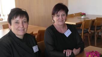 Die Pächterinnen und Schwestern Andrea Wenk (links) und Monika Weber wollen in Mandach bleiben.