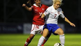 Fabienne Humm im WM-Quali-Spiel gegen Serbien Ende September