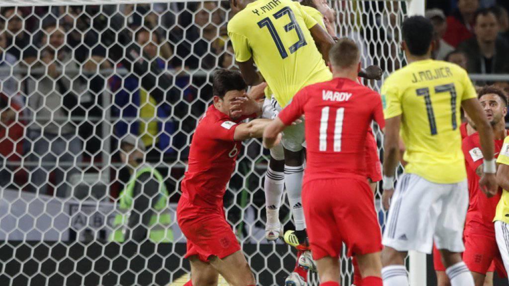 Zuletzt köpfelte Yerry Mina Kolumbien mit seinem Tor in der 93. Minute des Achtelfinalspiels gegen England in die Verlängerung