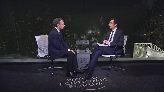 Rochebin mit Frankreichs Präsident Emmanuel Macron.