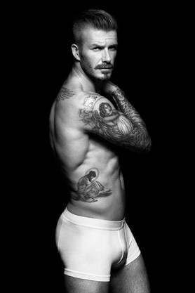 David Beckham in Unterwäsche von H & M