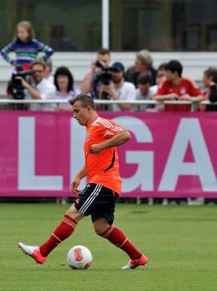 Shaq im 1. Training beim FC Bayern München.
