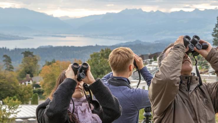 Am 5. und 6. Oktober lädt BirdLife Schweiz an 63 Standorten ein, den Herbstzug zu beobachten.