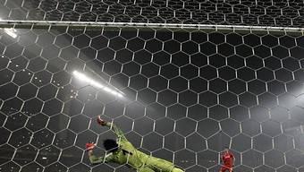 Penalty-Szene aus der Europa-League-Partie Liverpool gegen Besiktas