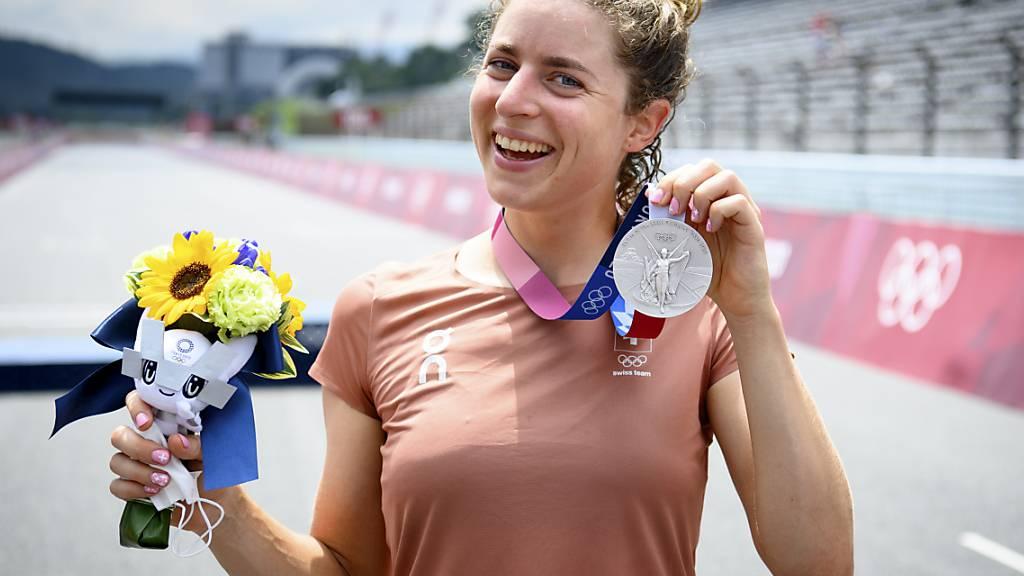 Marlen Reussers bisher grösster Erfolg: An den Olympischen Spielen in Tokio gewann die Bernerin Silber im Zeitfahren