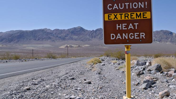 Der heisseste Ort der Welt: Das Death Valley in Kalifornien, USA.