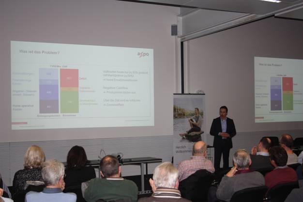 Zepf erklärte die Bedeutung der Wasserkraft für die Schweiz und Dringlichkeit einer drastischen Veränderung der Marktmechanismen für diese.