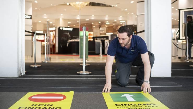 Ab Montag dem 11. Mai dürfen Warenhäuser in der Schweiz unter Auflagen wieder öffnen.