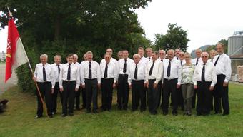 Der Maennerchor Frohsinn bei einem Auftritt im Jahr 2009.