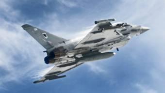 Ein Typhoon-Kampfjet der Royal Air Force (Archiv)