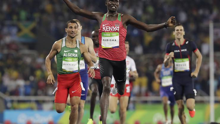 David Rudisha siegte über 800 m nach London 2012 auch in Rio 2016