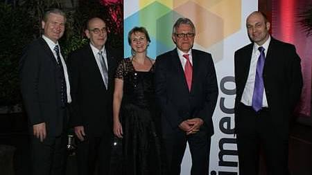 Die Geschäftsleitung Hans Gräppi, Hanspeter Engeli, Gabriela Kofel, Emil Schönmann und Heinz Siegenthaler