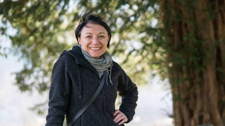 Für eine Verschnaufpause geht Yvonne Feri am liebsten in den Park des Klosters Wettingen. Mario Heller