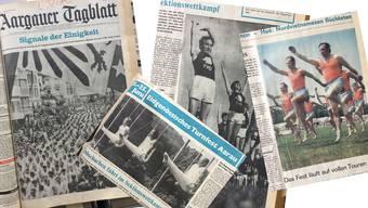 Eidgenössischen Turnfest in Aarau anno 1972