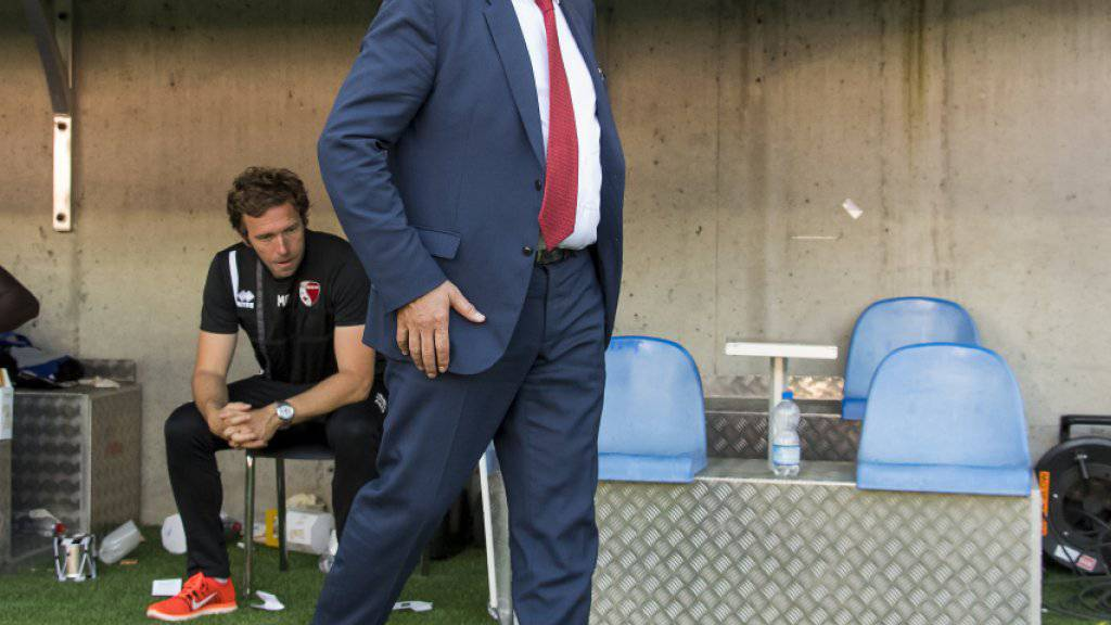 Christian Constantin kann seine Enttäuschung nach der Cup-Niederlage gegen Basel nicht verbergen