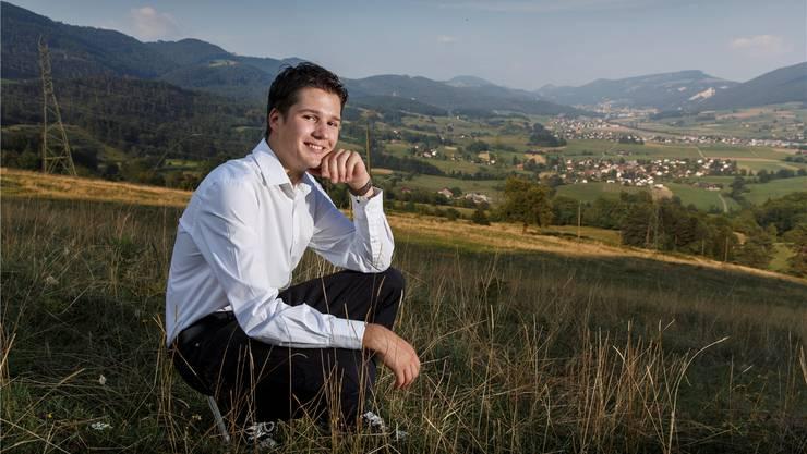 Von hier aus, oberhalb Herbetswil, hat Mikko Müller einen herrlichen Blick übers Thal.