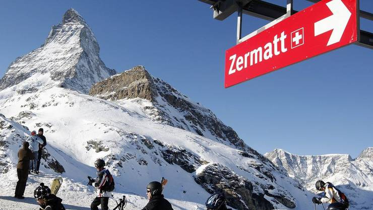 Skigebiet Zermatt im Schatten des Matterhorns